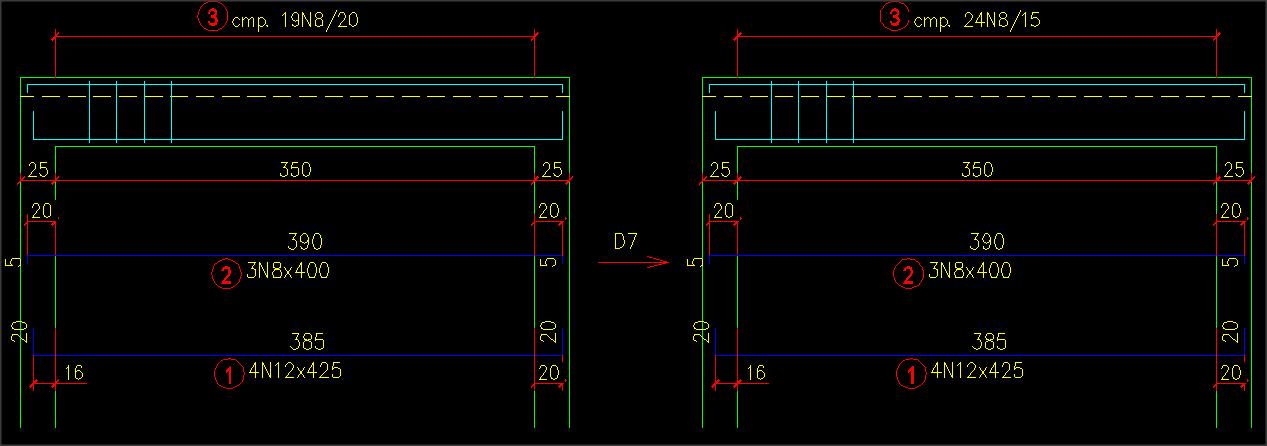 Промяна на стъпката на армировката с mCAD2